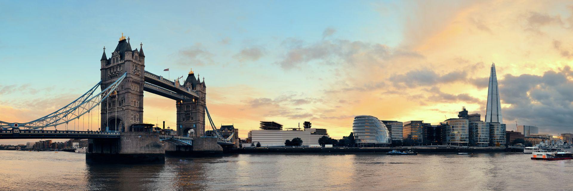 Londyn pri zapadu slunce